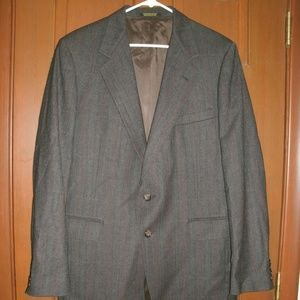 Vintage Men's Tweed Blazer Brown Wool Evan Picone